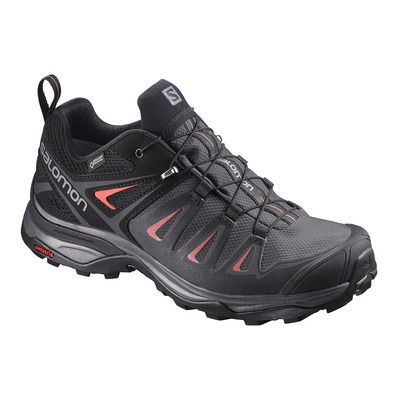 SALOMON - X ULTRA 3 GTX - Hiking Shoes - Women's - magnet/black/red