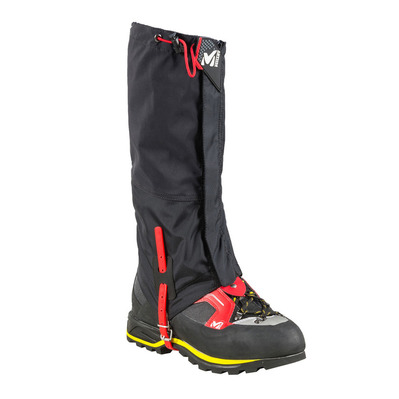 MILLET - ALPINE GAITERS DRYEDGE - Par de polainas hombre black/red