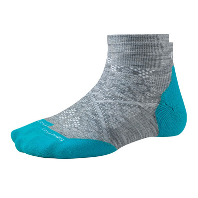 SMARTWOOL - PHD RUN LIGHT ELITE LOW CUT - Chaussettes Femme light grey/capri