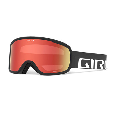 GIRO - CRUZ - Masque ski black wordmark amber scarlet