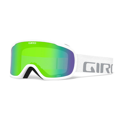 GIRO - CRUZ - Schneebrille white wordmark loden green