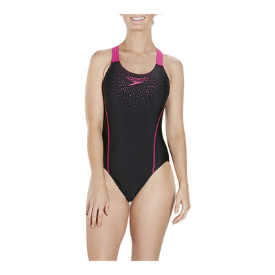SPEEDO - GALA MEDALIST - 1-Piece Swimsuit - Women's - black/pink