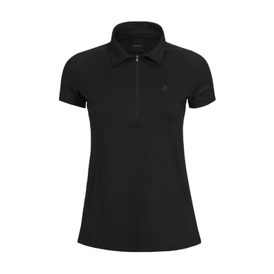 PEAK PERFORMANCE - ZIP - Polo Femme black