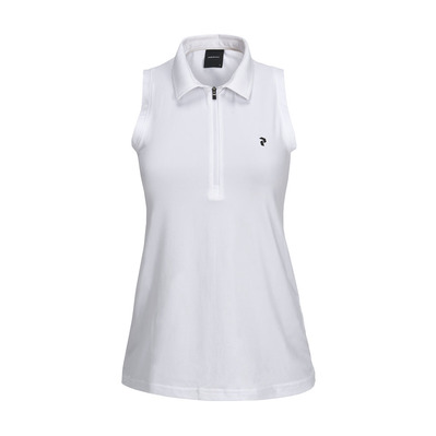 PEAK PERFORMANCE - ZIP - Polo mujer white