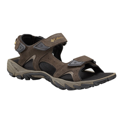 COLUMBIA - SANTIAM 3 STRAP - Sandals - Men's - cordovan/dark banana