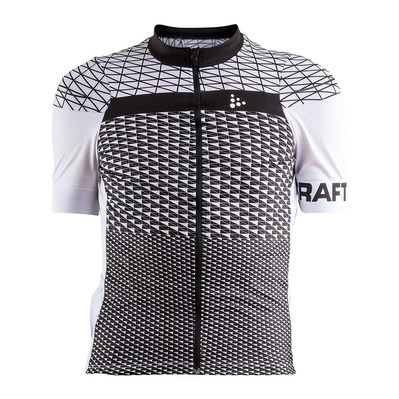 CRAFT - ROUTE - Maillot Homme blanc/noir