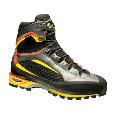 LA SPORTIVA - TRANGO TOWER GTX - Chaussures alpinisme Homme black/yellow