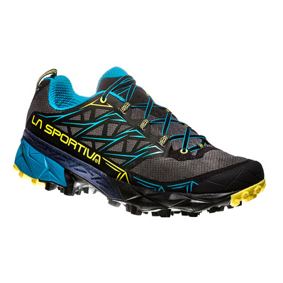 LA SPORTIVA - AKYRA - Chaussures trail Homme carbon/tropic blue