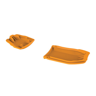 PETZL - LEOPARD - Anti-Balling Plates - orange