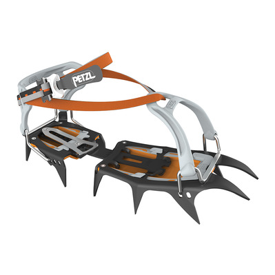 PETZL - VASAK FLEXLOCK - Crampons - black/grey/orange