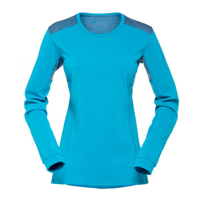 NORRONA - FALKETIND SUPER WOOL - Camiseta mujer blue moon