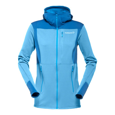 NORRONA - Hooded Polartec® Fleece - Women's - FALKETIND WARM1 blue moon