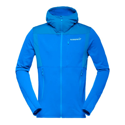 NORRONA - Hooded Polartec® Fleece - Men's - FALKETIND WARM1 hot sapphire