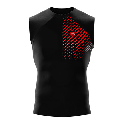 COMPRESSPORT - TRAIL RUNNING POSTURAL SL - Jersey - Men's - black