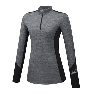 MIZUNO - VIRTUAL BODY G2 H/Z - Camiseta térmica mujer heathergrey/black