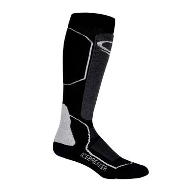 ICEBREAKER - SKI+ MEDIUM OTC - Calcetines mujer black/oil/silver