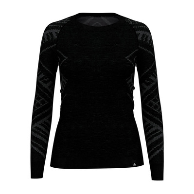 ODLO - NATURAL + KINSHIP WARM - Base Layer - Women's - black marl