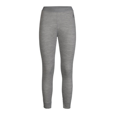 ODLO - NATURAL MERINO WARM - Tights - Women's - grey marl/grey marl