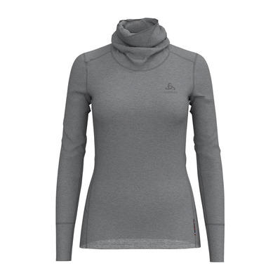 ODLO - NATURAL MERINO WARM - Base Layer - Women's - grey marl/grey marl