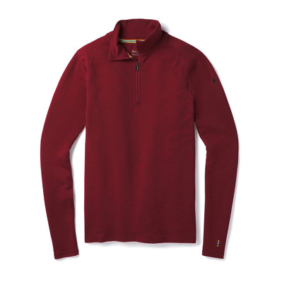 SMARTWOOL - MERINO 250 ZIP - Sous-couche Homme tibetan red heather