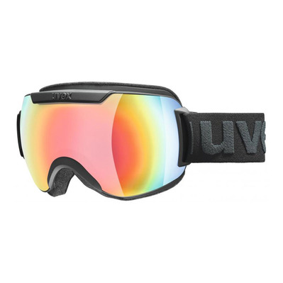 UVEX - DOWNHILL 2000 FM - Ski Goggles -  black mat/mirror rainbow/rose