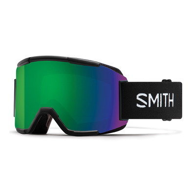 SMITH - SQUAD - Ski Goggles - black/green sol x mirror