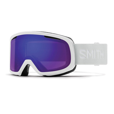 SMITH - RIOT - Masque ski Femme white vapor/chromapop everyday violet mirror