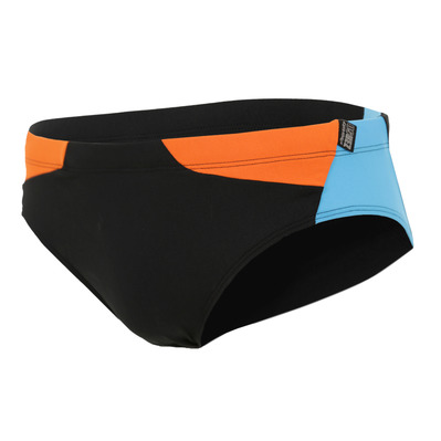Z3ROD - BRIEFS - Swimming Brief - Men's - black/atoll/orange