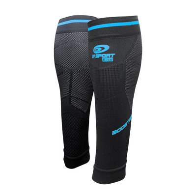 BV SPORT - BOOSTER ELITE EVO2 - Calf Sleeves - black/blue