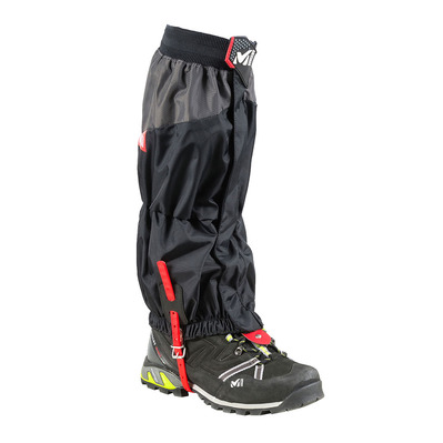 MILLET - HIGH ROUTE GAITER - Gaiters - Men's - black/red