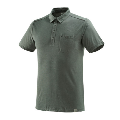 MILLET - IMJA WOOL - Polo - Men's - castle grey