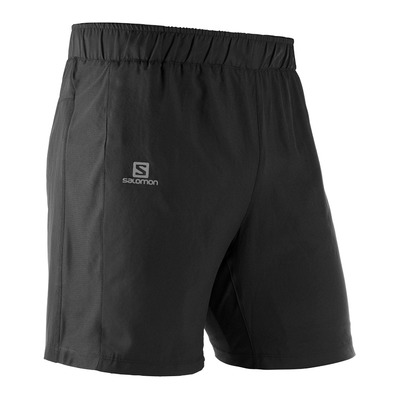 SALOMON - AGILE - Short 2 en 1 Homme black