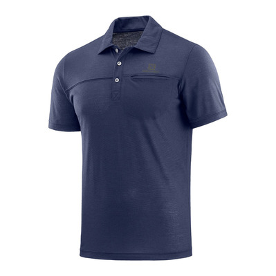 SALOMON - SS Polo - Men's - EXPLORE night sky