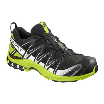 SALOMON - Trail Shoes - Men's - XA PRO 3D GTX® black/lime green/wh