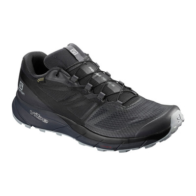 SALOMON - SENSE RIDE 2 INVISIBLE FIT GTX - Chaussures trail Homme ebony