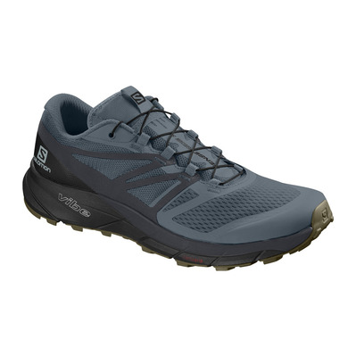 SALOMON - SENSE RIDE 2 - Chaussures trail Homme stormy weather/ebony/black