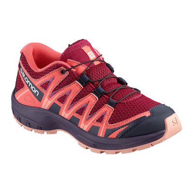 SALOMON - XA PRO 3D - Chaussures trail Junior cerise/dubarry/peach amber