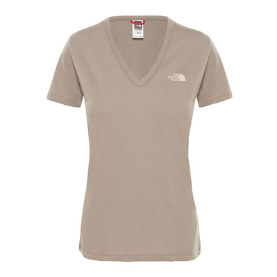 THE NORTH FACE - SIMPLE DOME - Tee-shirt Femme silt grey