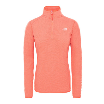 THE NORTH FACE - 100 GLACIER - Polaire Femme juicy red stripe
