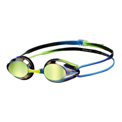 ARENA - TRACKS MIRROR - Swimming Goggles - blue/blue/green