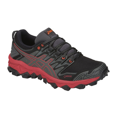 ASICS - GEL-FUJITRABUCO 7 GTX - Trail Shoes - Women's - dark grey/flash coral