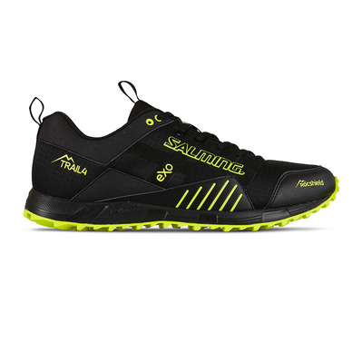 SALMING - TRAIL T4 - Chaussures trail Homme noir/jaune