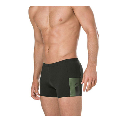 SPEEDO - MESH PANEL - Boxer de bain Homme black/yellow