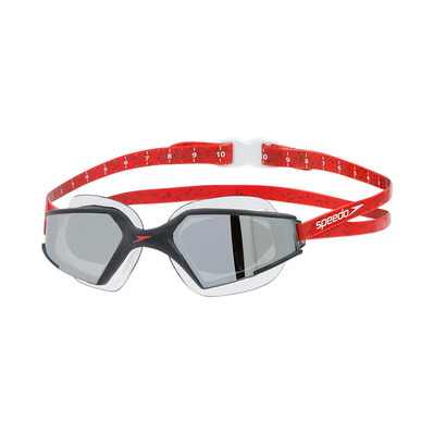 SPEEDO - AQUAPULSE MAX 2 MIRROR - Swimming Goggles - black/red