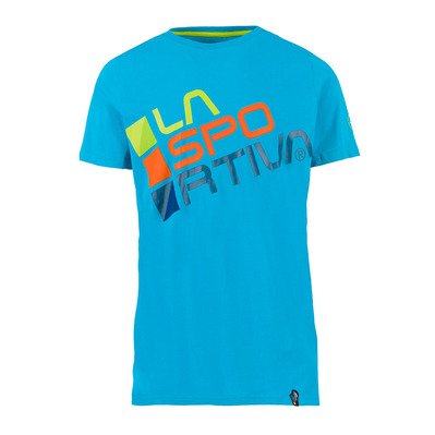 LA SPORTIVA - SQUARE - Tee-shirt Homme tropic blue/apple green