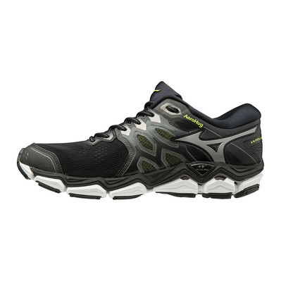 MIZUNO - WAVE HORIZON 3 - Chaussures running Homme black/met shadow/safety yellow