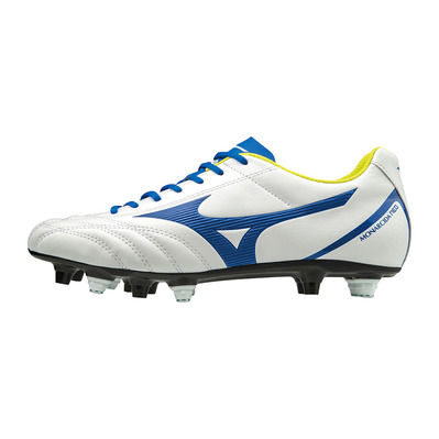 MIZUNO - MONARCIDA NEO SELECT MIX - Botas de rugby white/mazzarine blue/safety yellow