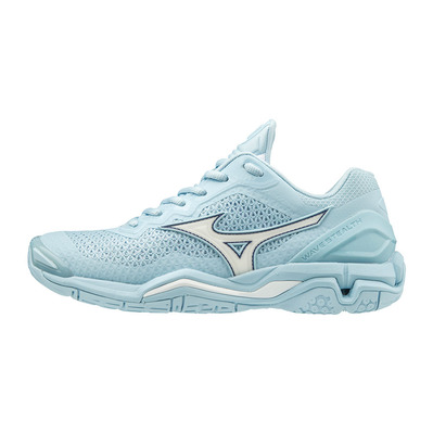 MIZUNO - WAVE STEALTH V - Chaussures hand Femme cool blue/white