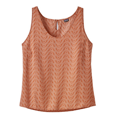 PATAGONIA - JUNE LAKE - Tank Top - Women's - bluff river/sunset orange