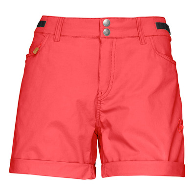 NORRONA - SVALBARD LIGHT COTTON - Short mujer crips ruby